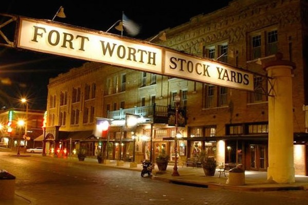 Fort Worth Stock Yards at Night 1200×800